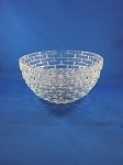 Clear Square Pattern Bowl - 3 1/2